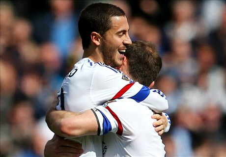 Hazard finally scores in easy win