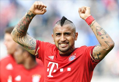 Vidal gets his kit off after Bayern win