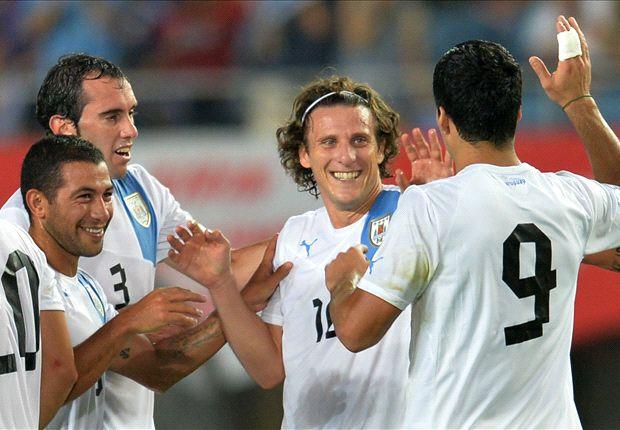 Japan 2-4 Uruguay: Forlan & Suarez star in Celeste victory