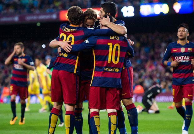 Barcelona 6-0 Sporting Gijon: Suarez scores four in rout