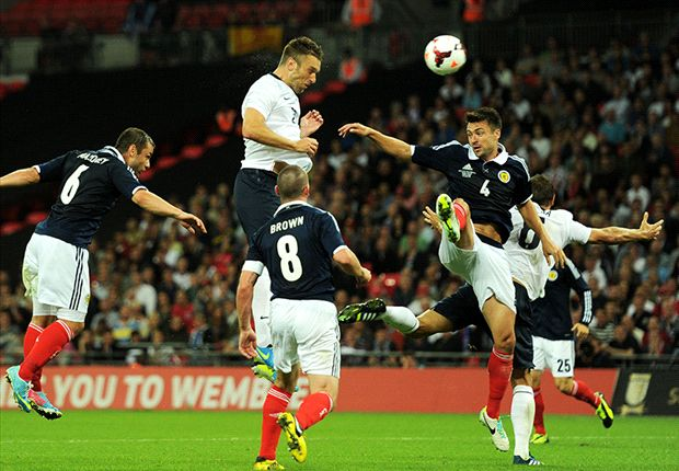 England 3-2 Scotland: Lambert's debut goal saves Hodgson's blushes