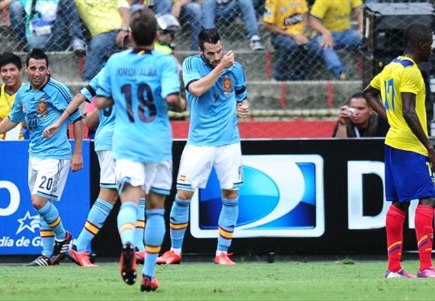 Negredo erzielte das 1:0 gegen Ecuador