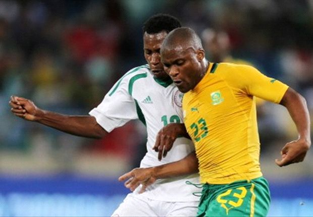 Tokelo Rantie will be looking to put one past his Bafana teammates - Khumalo & Furman
