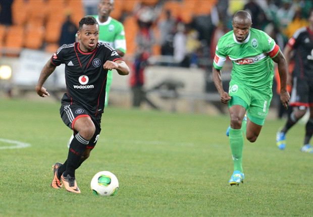 Orlando Pirates striker Kermit Erasmus
