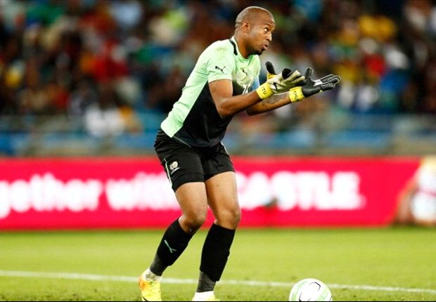 Goalkeeper Itumeleng Khune of South Africa during the 2013 Nelson Mandela Challenge