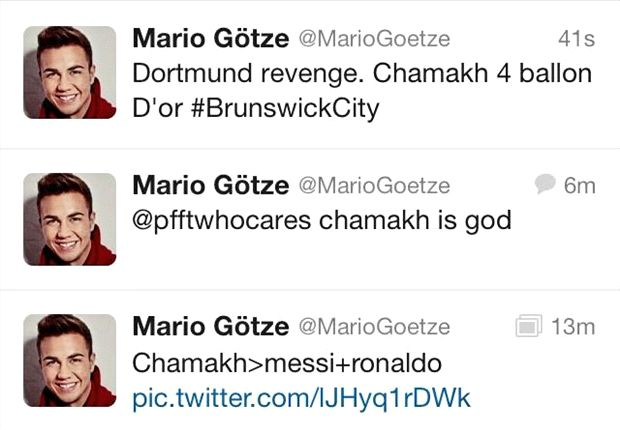 Extra Time: Gotze Twitter account hacked