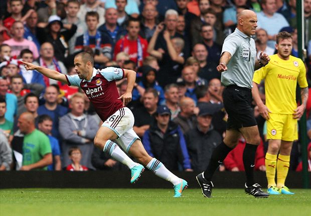 West Ham 2-0 Cardiff City: Cole and Nolan get Hammers off to perfect start