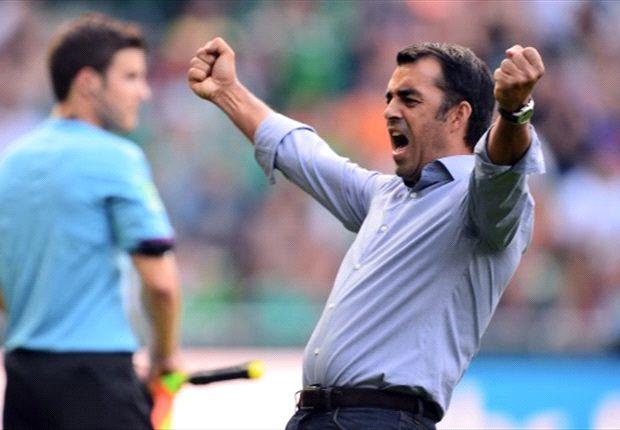 Robin Dutt ist mit Werder bisher zufrieden