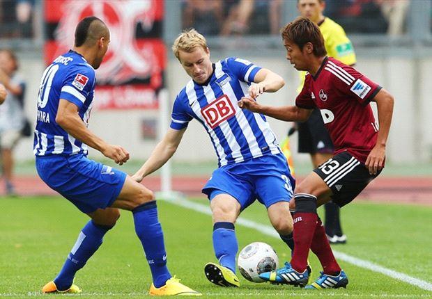 Hertha BSC verpasst den Sieg beim 1. FC Nürnberg