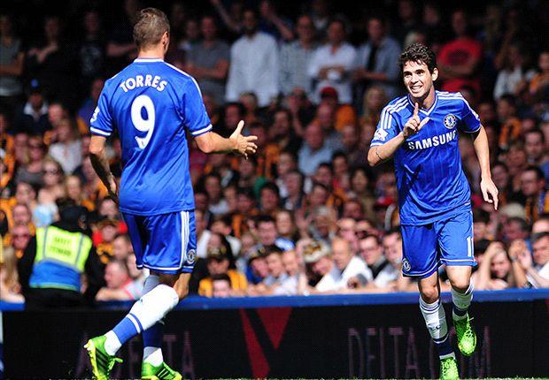 Torres y Oscar festejan el primer gol