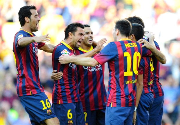 Barcelona 7-0 Levante: Messi scores twice in Martino's debut success