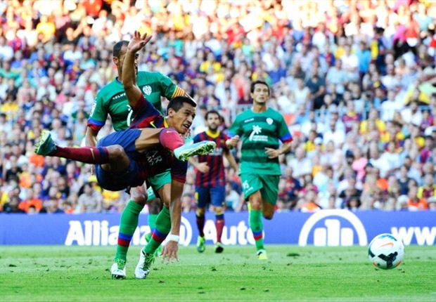 لوانته 1-1 بارسلونا: توقف پردردسر