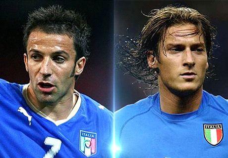Who was better - Del Piero or Totti?