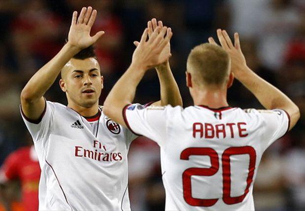 El Shaarawy und Abate, die Beteiligten beim 1:0