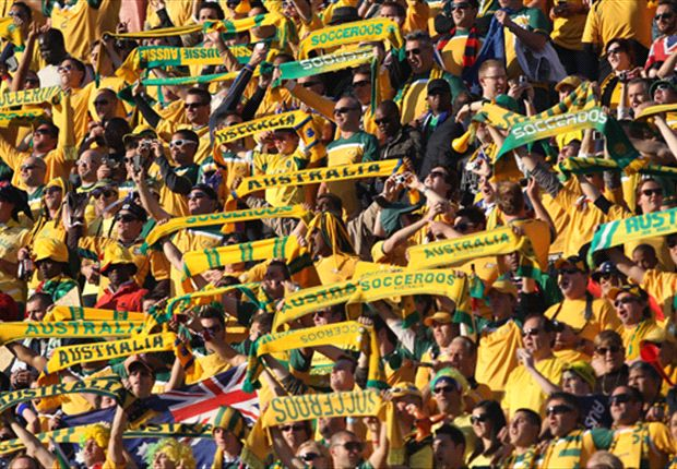 Aussie fans support the Socceroos in South Africa