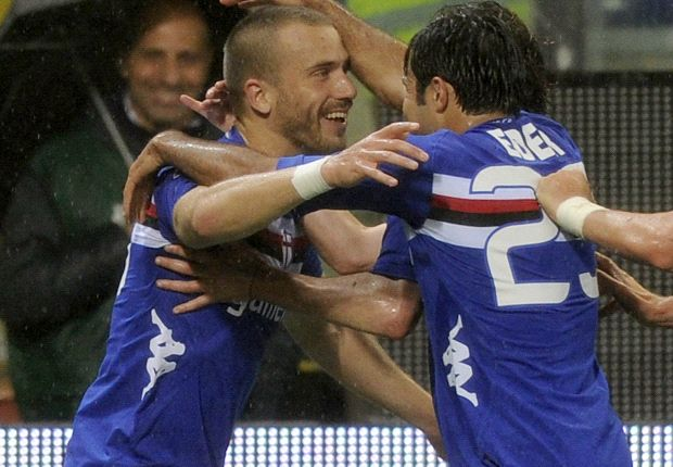 Eder e De Silvestri esultano nell'ultimo Sampdoria-Juventus giocato