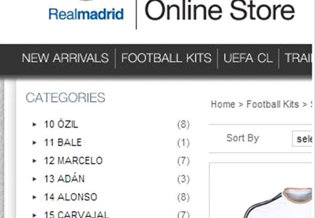 Extra Time: Real Madrid's official online shop lists Bale
