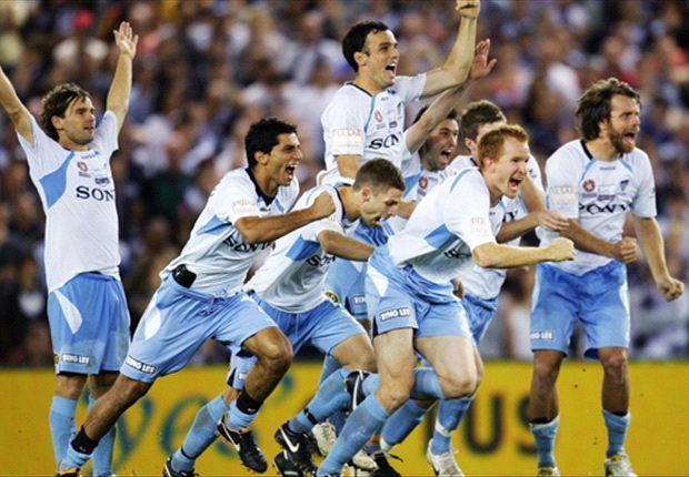 The Sky Blues celebrate their 2010 Grand Final triumph