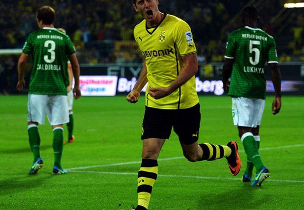 Borussia Dortmund 1-0 Werder Bremen: Lewandowski tap-in seals Schwarzgelben win