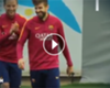 VIDEO: Messi puso en ridículo a Piqué ►