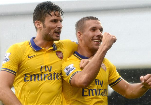 Fulham 1-3 Arsenal: Podolski double helps Gunners to victory