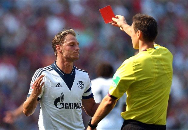 Bundesliga: Nine-man Schalke suffer defeat