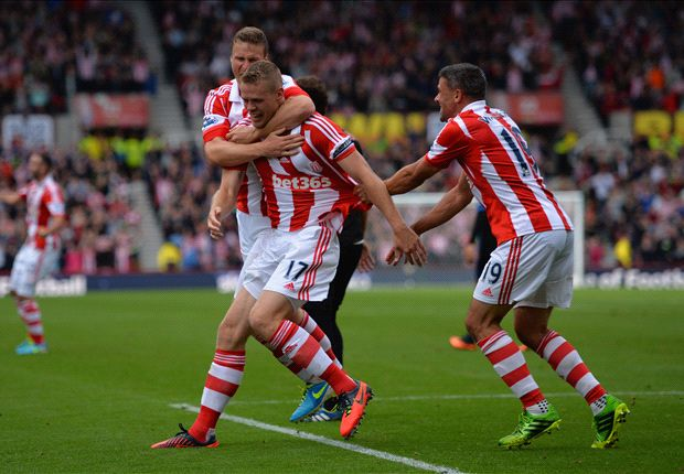 Stoke 2-1 Crystal Palace: Shawcross seals a first win for new boss Hughes
