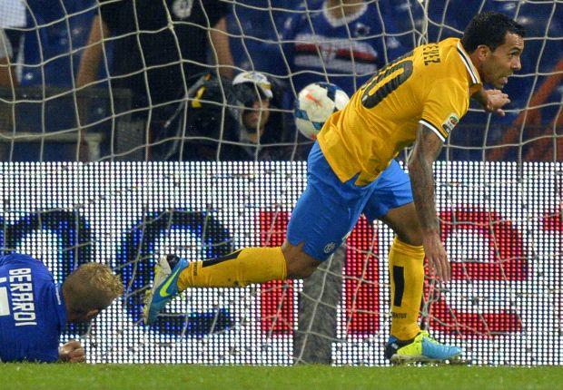 Sampdoria 0-1 Juventus: Tevez fires Bianconeri to opening day win