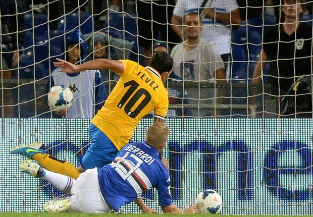 Tévez maakte het enige doelpunt van de wedstrijd