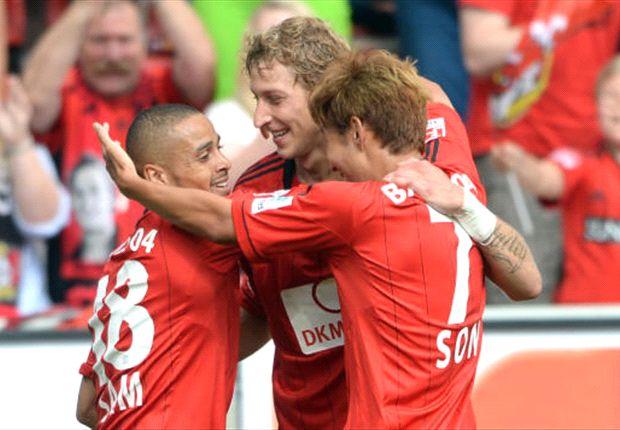 Bayer Leverkusens magisches Dreieck: Stefan Kießling, Sidney Sam und Heung-Min Son