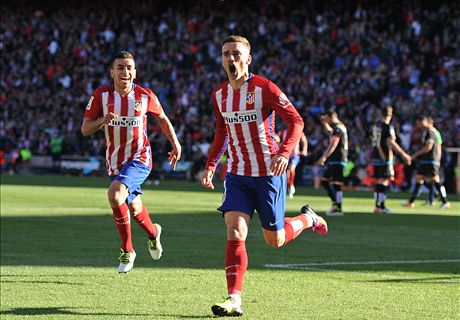 Atlético schadevrij door Griezmann