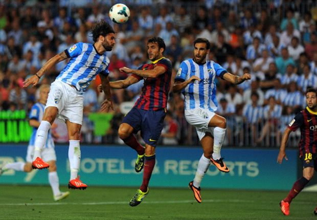 Malaga 0-1 Barcelona: Adriano gives lackluster Blaugrana narrow win