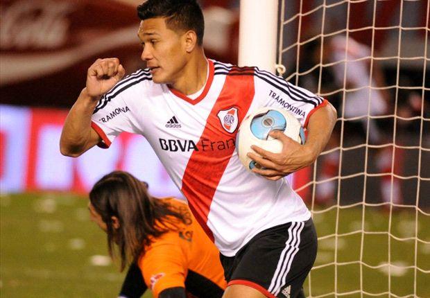 Teo Gutiérrez marcó en su debut, pero a River no le alcanzó.