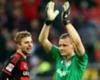 Bayers Christoph Kramer (l.) und Bernd Leno jubeln