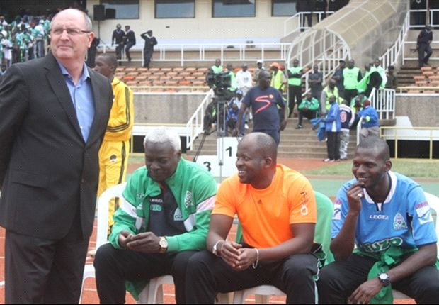 Gor Mahia coach Bobby Williamson during the match against AFC Leopards'