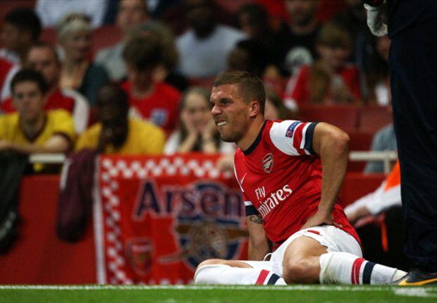 Fällt lange aus: Arsenals Lukas Podolski
