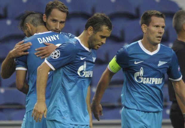 Zenit Sankt-Petersburg hat den Einzug in die Champions League locker gepackt