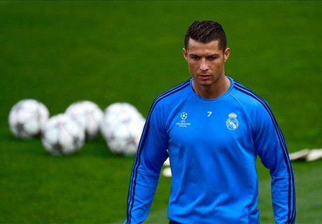 Ronaldo trains ahead of Man City clash