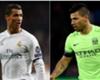 As atuações de Cristiano Ronaldo e Agüero em Real x Man City