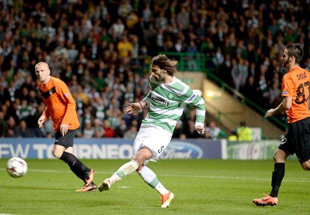 Celtic, con un gol sobre la hora, clasificó y dejó afuera a Shakhter