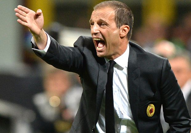 Allegri jokes about quitting Milan