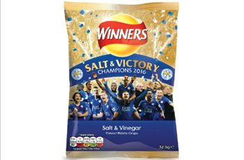 Walkers launches 'Salt & Victory' chips after Leicester title win