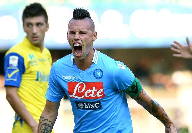 Marek Hamsik führte Neapel mit zwei Toren zum Auswärtssieg