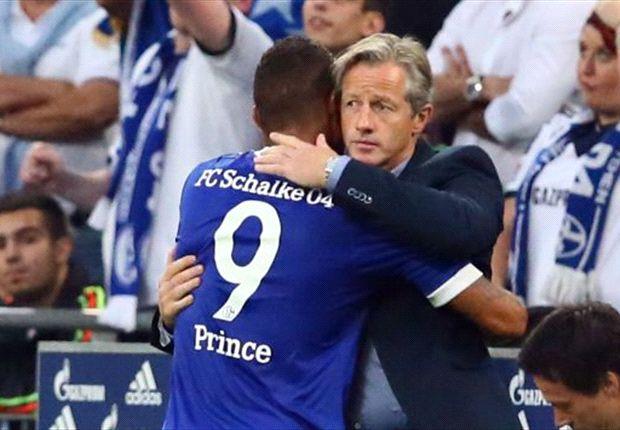 Un abbraccio fra Kevin-Prince Boateng e il suo nuovo allenatore Jens Keller