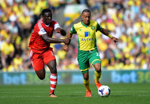 Kenya midfielder Victor Wanyama in action for Southampton against Norwich City