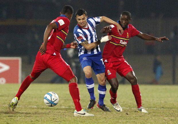 Dillon Sheppard of Maritzburg United against University of Pretoria