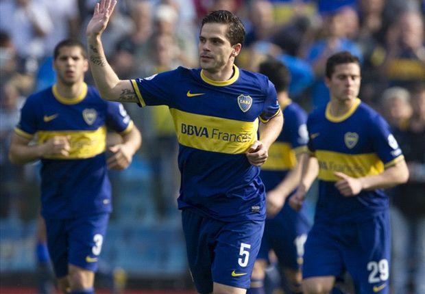 Gago regresó a las canchas en la quinta fecha justo ante Vélez.
