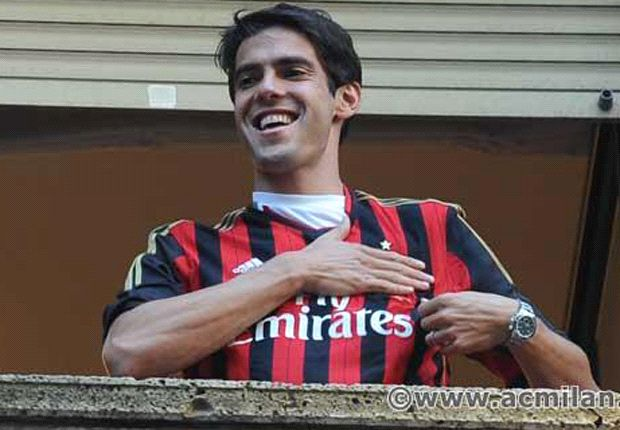 Kaka's return to Milan was greeted with immense joy