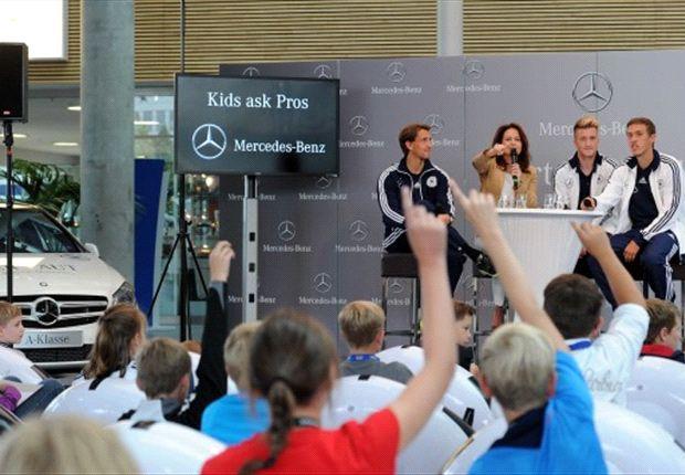"""Kids ask Pros"": ""Wer ist der größte Spaßvogel der Nationalmannschaft?"""