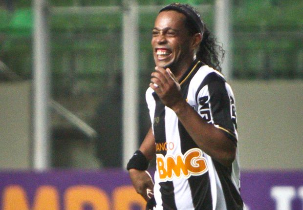 Watch Ronaldinho score two amazing free-kicks